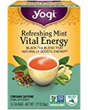 Yogi Tea, Refreshing Mint Vital Energy, 16 Count (Pack of 6), Packaging May Vary