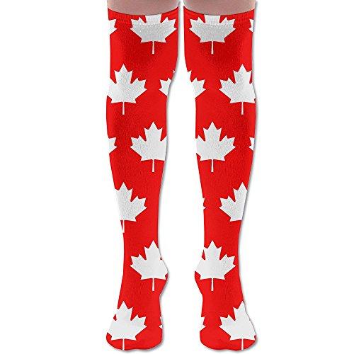 7acf6fb058 MOCSTONE Canada Flag Maple Women s Tube Stockings Long Socks Over The Knee  Sock