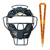 Champion Sports Ultra Lightweight Umpire Face Mask Black with 1 Performall Lanyard BM300BK-1P
