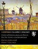 img - for Heath's Modern Language Series. Die Drei Gerechten Kammacher (German Edition) book / textbook / text book