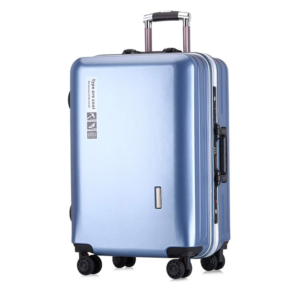 24インチアルミフレームトロリーケース2019レディースラゲッジボーディングメンズユニバーサルホイールファッション学生スーツケース(fenmei),D,24inches 24inches D B07QYHDRQX