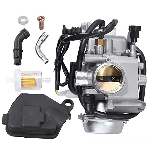 Carburetor for Honda Rancher 350 TRX350FE TRX350FM 4x4 2004 2005 2006 ATV Replacement Carb Assembly w/Fuel Filter - Bolts Carb
