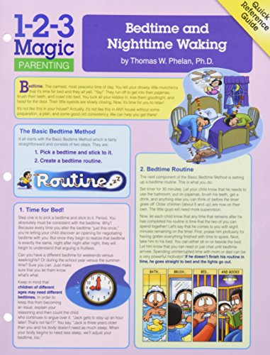 Bedtime and Nighttime Waking (Quick Reference Guides) from ParentMagic, Incorporated