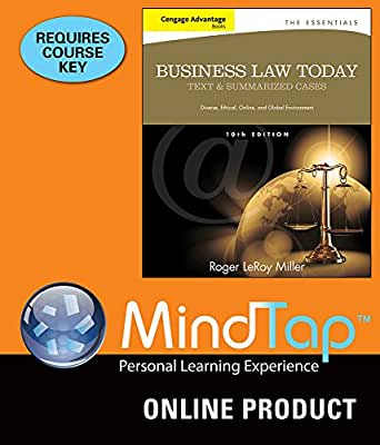 Amazon.com: MindTap Business Law for Millers Cengage ...