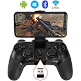 ALLCACA Wireless Game Controller 2.4G PS3 Rechargeable Bluetooth Gamepad for Android Smartphone, Playstation 3, PC Windows XP/7/8/10, Tablets, Smart TV and TV Box (Not for iOS)