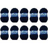 Distrifil - 10 pelotes de laine à tricoter Distrifil AZURITE 3090 pas cher 100% acrylique - 3090