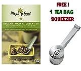 Mighty Leaf Tea , Organic Green Hojicha ,(with FREE Tea Bag Squeezer) (1 Pack)
