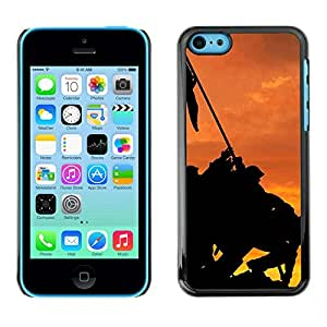 Soft Silicone Rubber Case Hard Cover Protective Accessory Compatible with Apple iPhone 5C - Banner