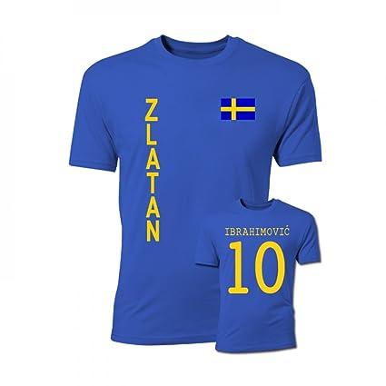 finest selection 04a72 d4b2a Amazon.com : Gildan Zlatan Ibrahimovic Sweden Flag T-Shirt ...