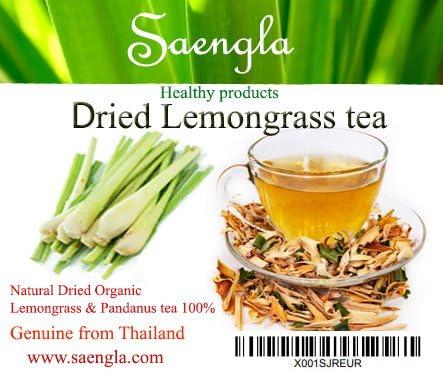 Seangla Organic Dried Lemongrass Tea & Pandan Herb - Fine Cut and Sifted 2.1 Oz
