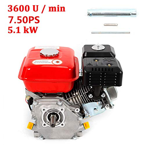 OUKANING 4-stroke petrol engine recoil/electric start kart engine 7.5 hp engine industrial engine: