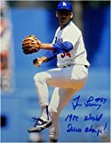Tim Leary Signed 8X10 Photo 88 - WS Champs Autograph LA Dodgers Auto 1988 WS