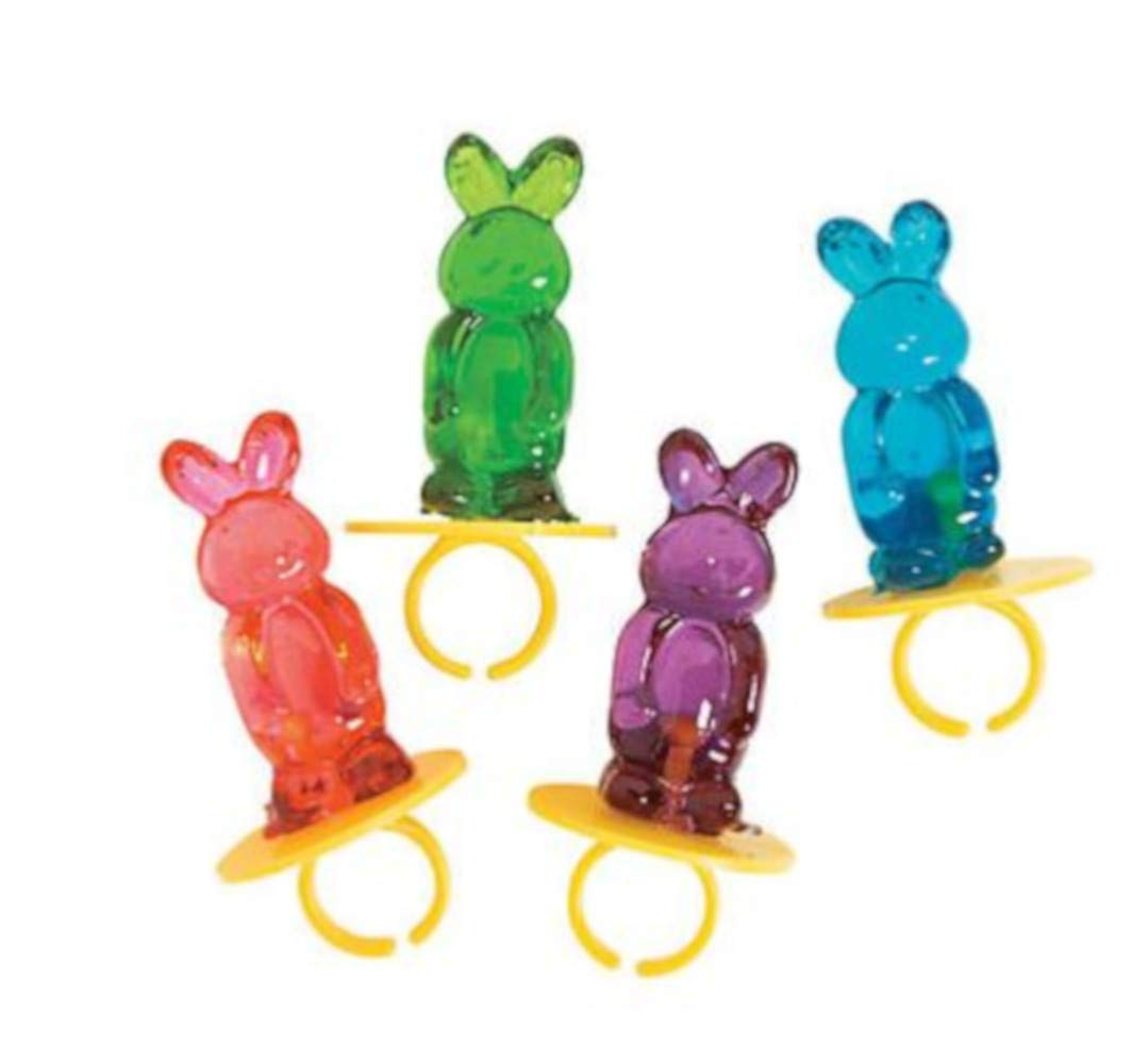 Bundled with Candy Jewelry 6 Easter Baskets Inflatables and Bunny Candy Bracelets 12 Bunny Ring Pops 12