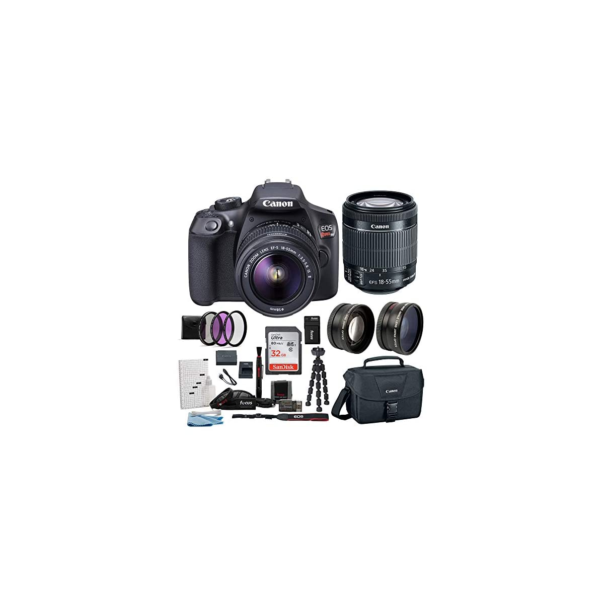 SaleProductsOffer - No.1 Best Online Store 518HoNU-pdL Canon EOS Rebel T6 Digital Camera: 18 Megapixel 1080p HD Video DSLR Bundle With Wide Angle 18-55 MM Lens 32GB SD Card Mini Tripod Filter Kit & Charger - Professional Vlogging Sports and Action Cameras