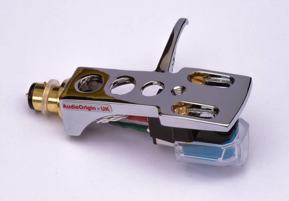 needle for Realistic LAB-400 Mirror Chrome plated Headshell RD-8100 - MADE IN ENGLAND LAB-390 LAB-260 cartridge LAB-270 LAB-250 LAB-8500 LAB-420 LAB-300