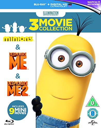 Minions Collection (Despicable Me/Despicable Me 2/Minions) [Blu-ray][Region-Free] (Despicable Movie)