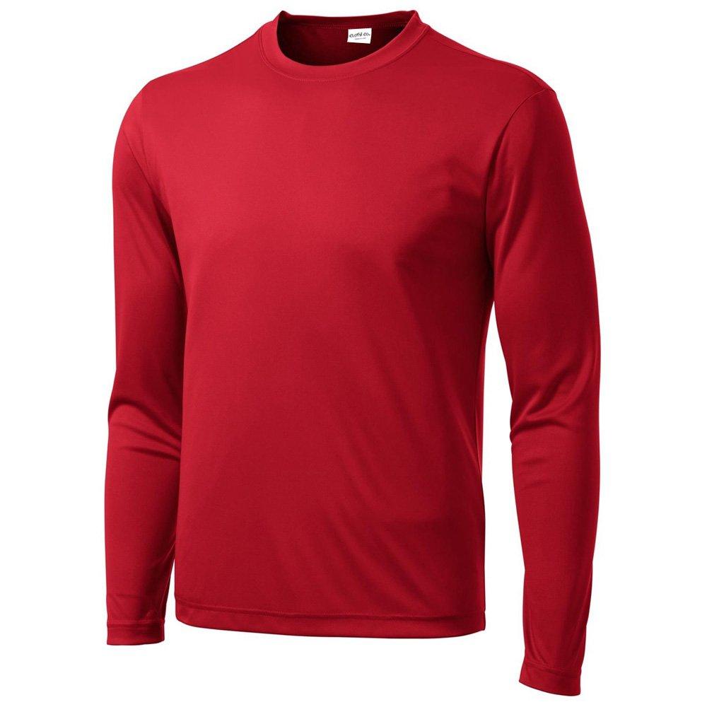 Clothe Co. Mens Long Sleeve Moisture Wicking