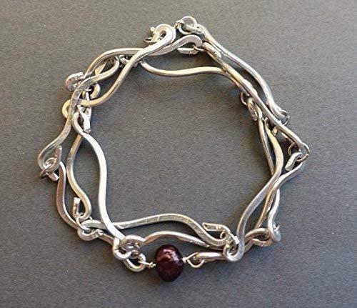 Cranberry Pearl Wrap Bracelet