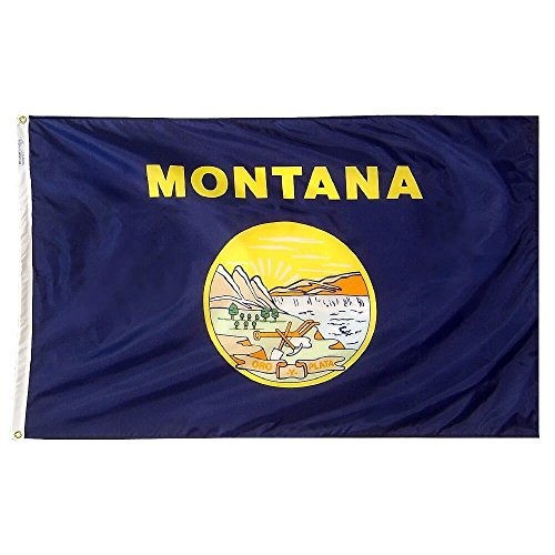 Annin Flagmakers Model 143180 Montana State Flag Nylon SolarGuard NYL-Glo, 5x8 ft, 100% Made in USA to Official Design Specifications