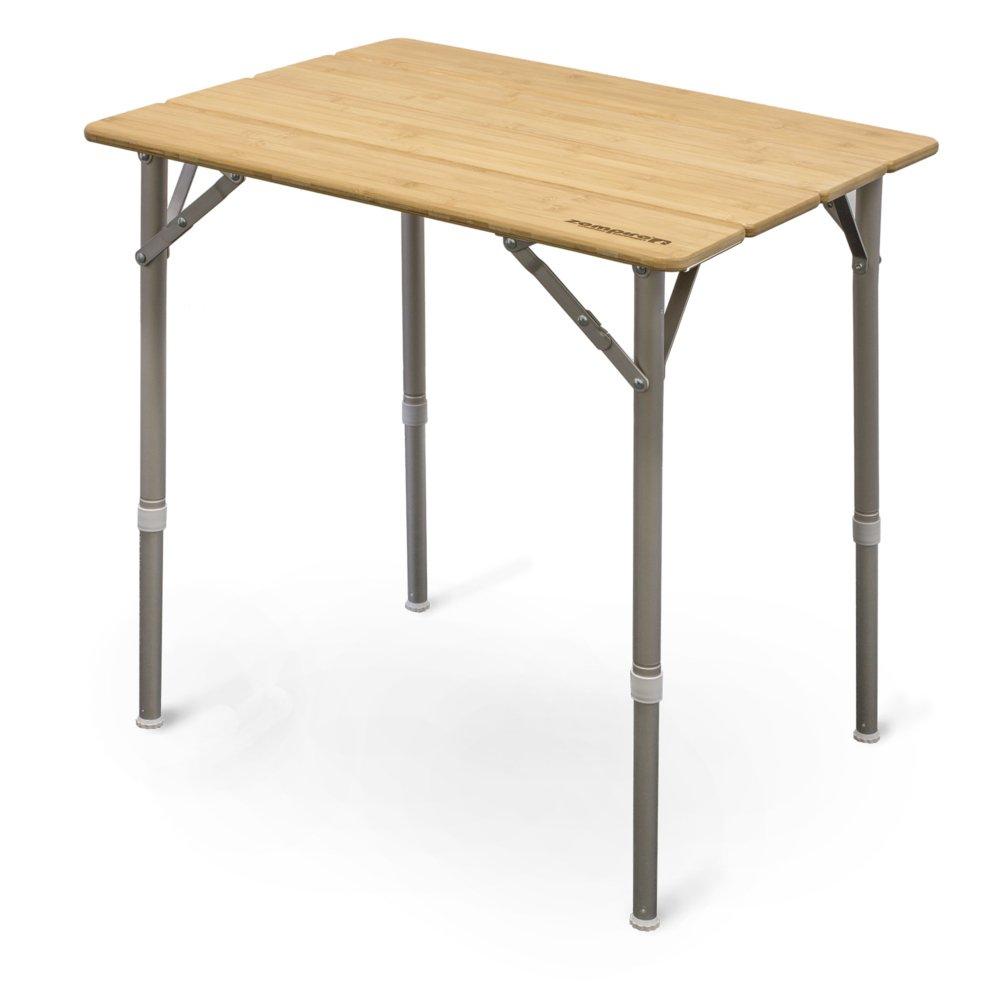 Zempire Design Campingtisch Bambusplatte Klapptisch Falttisch Tisch Flaschen/öffner H/öhenverstellbar 65 x 50 x 65//43cm