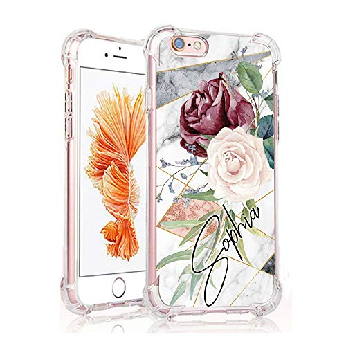 Yoedge Case for iPhone 7 & iPhone 8, Clear Floral Pattern [Ultra Slim] Back Cover Shockproof Soft TPU Silicone Bumper Case with Protective Air Cushion Corners for Apple iPhone 7/8 (Sophia)