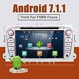 """Android 7.1 4-Core Wifi Model 7 """"pantalla táctil completa del reproductor de DVD del coche GPS 2 din estéreo de navegación GPS para Ford Focus con cámara y Canbus Color Sliver"""