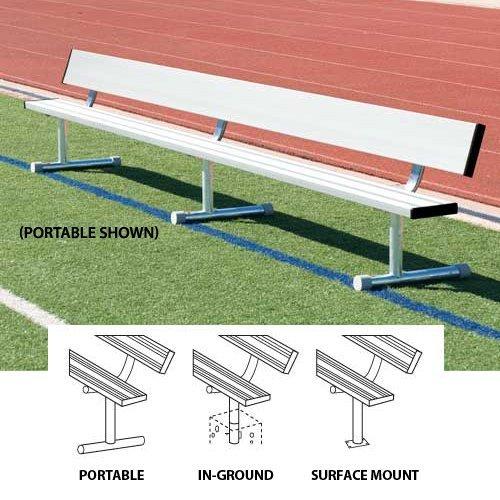 Bleachers Ssg / Bsn Benches (SSG-BSN BEPG27 Portable Bench With Back - 27 Feet Aluminum)