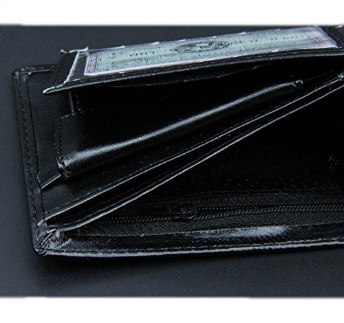 Edmen Brieftasche , Geldbörse , Herren Portemonnaie Geldbeutel Kunstleder Leder mit Münzfach Tasche