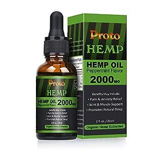 ProtoHemp Hemp Oil Drops, 2000mg High Strength 30m...
