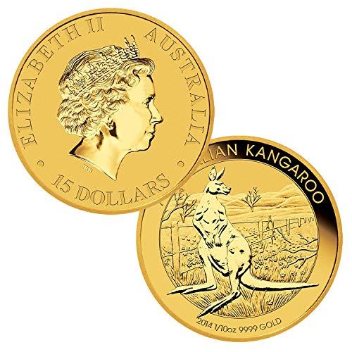 - 1/10 Ounce Gold Australian Kangaroo $15 Brilliant Uncirculated