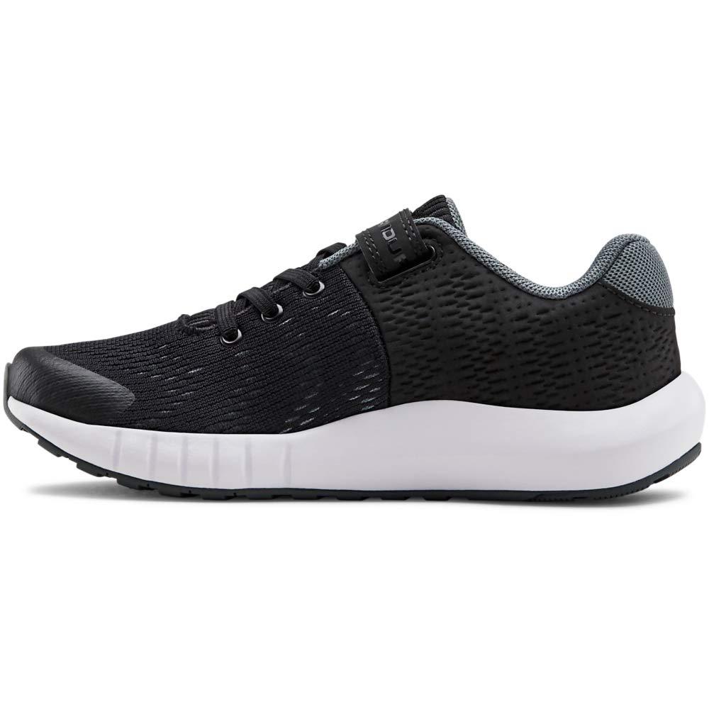 Under Armour Kids' Pre School Pursuit BP Alternate Closure Sneaker, Black (001)/White, 13K