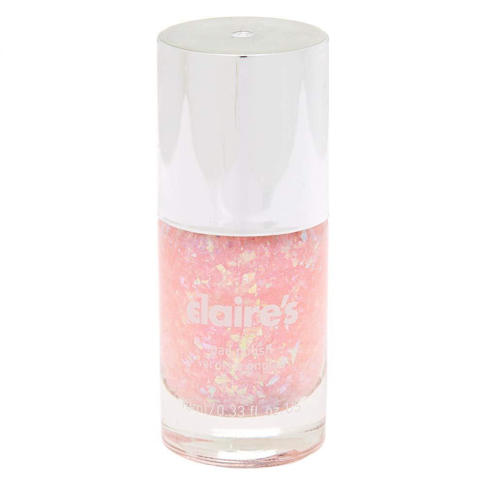Amazon.com: Esmalte de uñas Claires Girl Glitz rosa Holo ...