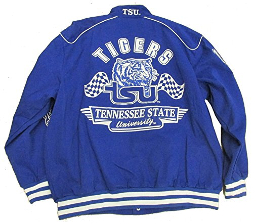 Tennessee State University Tigers Varsity Trimmed HBCU lack College Mens Big & Tall Jacket (x (Tennessee Varsity Jacket)
