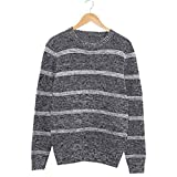 Beautface Makeup Handsome and Silm Men Sweaters Fashion Style Patchwork Knitted Quality Pullover Men O-neck Casual Sweater Black00Large