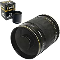 Opteka 500mm / 1000mm HD Mirror Telephoto Lens for Panasonic Lumix DMC GM5, GH4, GM1, GX7, GF6, G6, GH3 G1, GH1, GF1, G10, G2 GH2, GF2, Olympus PEN E-PL7, E-P5, E-PL5, E-PM2, E-P1, E-P2, E-PL1, E-PL1s, E-PL2 Micro Four Thirds Digital Cameras