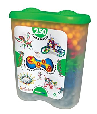 InfiniToy® ZOOB®, Plastic 250 PC Snap Together Building Set - Item #0Z11250