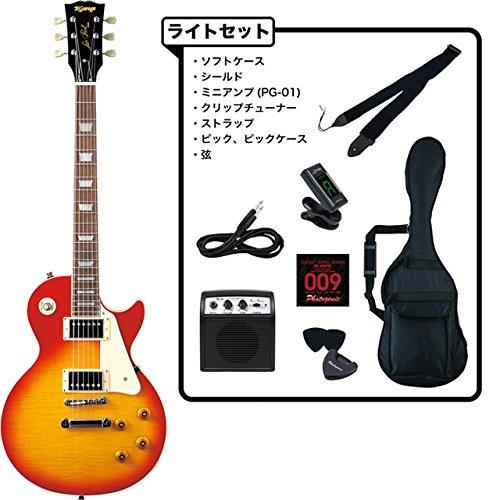 エレキギター 初心者セット レスポールタイプ KLP320 ライトセット ポータブルアンプPG-01付属 (CS) B01HSUEP96  CS