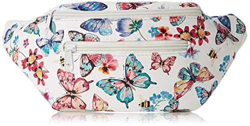 Joe Bandolera Butterfly Pretty L Bolsos Multicolor Bum w 7x16x33 H Multi white Browns Cm Mujer a Bag X rwg4pYrx