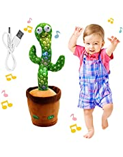 """Dancing Cactus Toy, BLUELAND Electric, Shaking, Recording, Singing, Talking toys, """"Repeat your speech"""" Plush Stuffed Gift For Toddler, Baby, Kids, age 1 2 3 4 5 6 7, BW00017"""