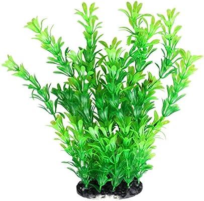 ruix Fish Tank Plantas Artificiales, Acuario Plantas Plástico Verde Artificial Para Decoración
