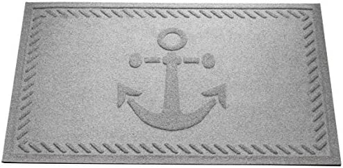 AquaShield Ship s Anchor Mat, 2 by 3-Feet, Medium Grey