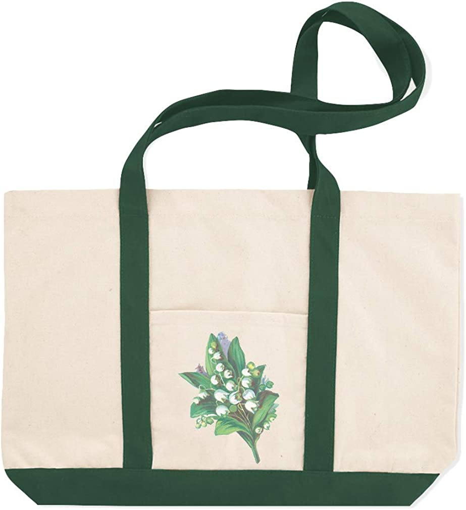 Canvas Shopping Tote Bag Lilies of The Valley Vintage Look A Botanical /& Flowers Beach for Women