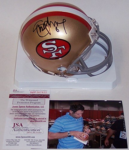 Steve Young Autographed Hand Signed San Francisco 49ers Throwback Mini Football Helmet - (Steve Young Hand Signed)