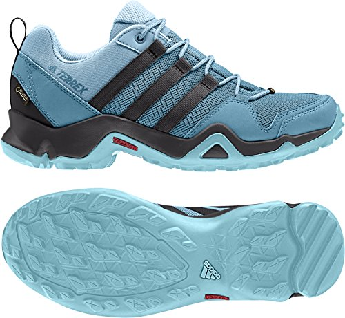 adidas outdoor Women's Terrex AX2R GTX Vapour Blue/Utility Black/Clear Aqua 6.5 B US by adidas outdoor