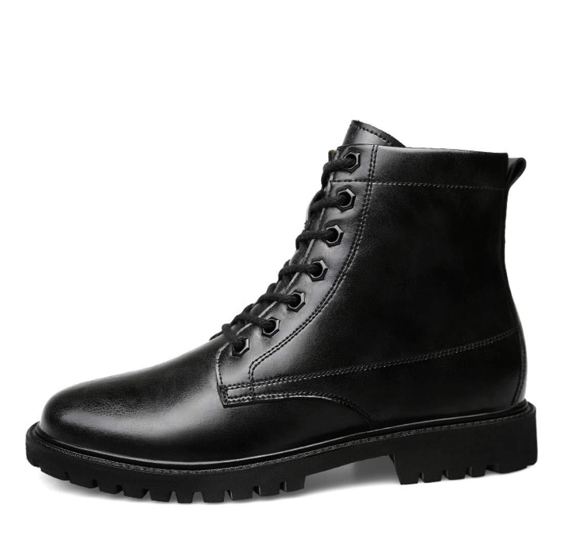 DANDANJIE Herren Comfort Schuhe 2018 Herbst Herbst Herbst Winter Kampfstiefel Mid-Calf Stiefel Schwarz Hellbraun 8a8a18