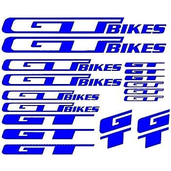 GT Bicycle Bike Frame Decals Stickers Adhesive Graphic Set Vinyl Aufkleber Blue