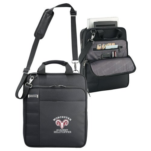 Worcester Academy Kenneth Cole Black Vertical Checkpoint Friendly Messenger 'Primary Mark' by CollegeFanGear