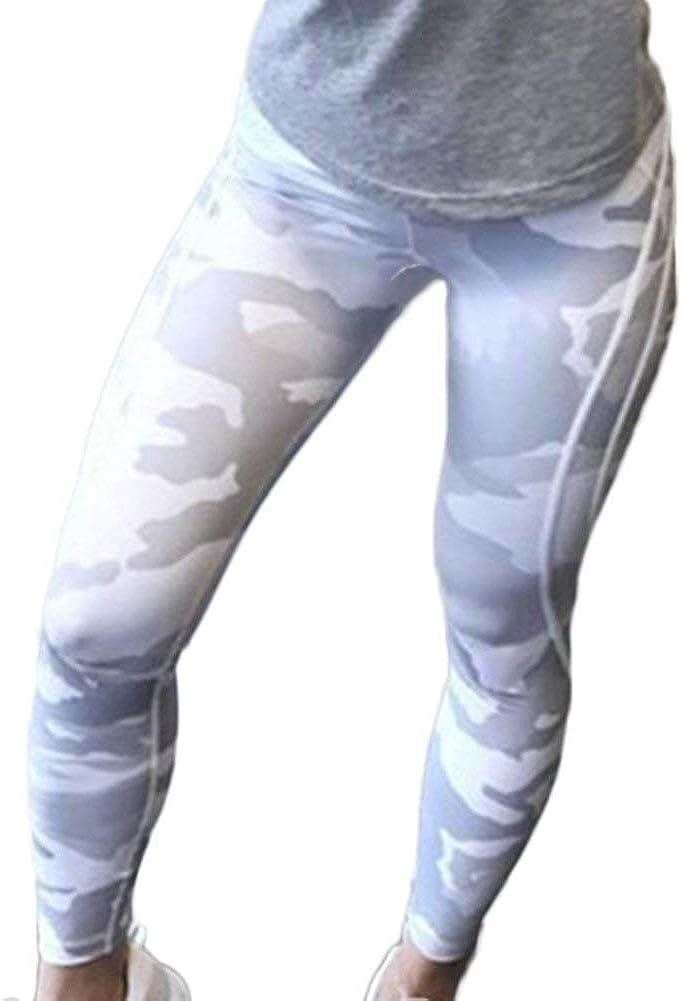 Lettres pour Dames Imprimé Camo Yoga Leggings De Pantalon