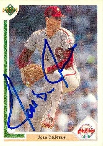 Jose Dejesus Autographed Baseball Card Philadelphia