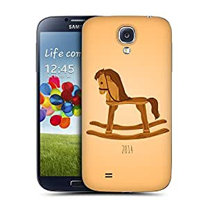 Head Case Designs Wood Year Of The Horse Replacement Battery Cover for Samsung Galaxy S4 I9500